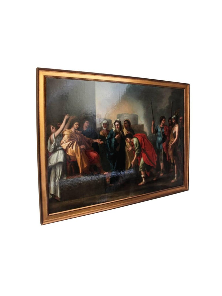 The Continence of Scipio in the manner of Nicolas Poussin - Painting by Unknown