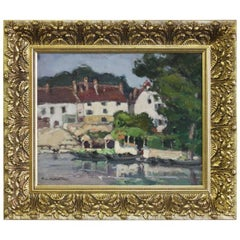 Impressionist French Village Scene