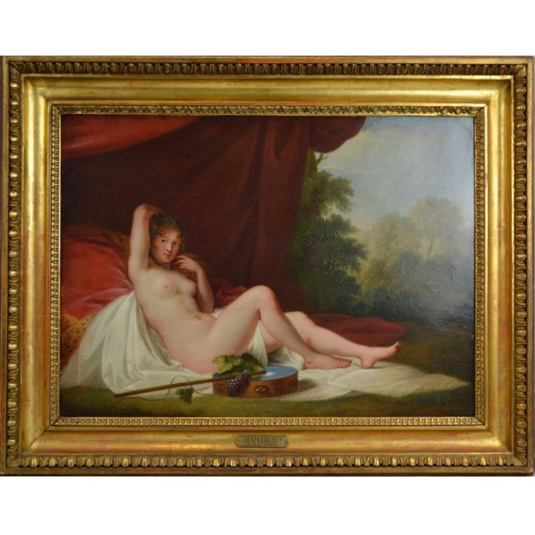 Reclining Nude Oil Painting on Copper