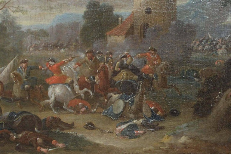 Cavalry Engagement Attributed to Karel Breydel - Old Masters Painting by Unknown