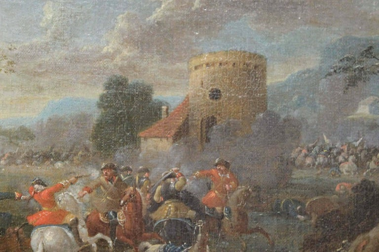 Cavalry Engagement Attributed to Karel Breydel - Painting by Unknown