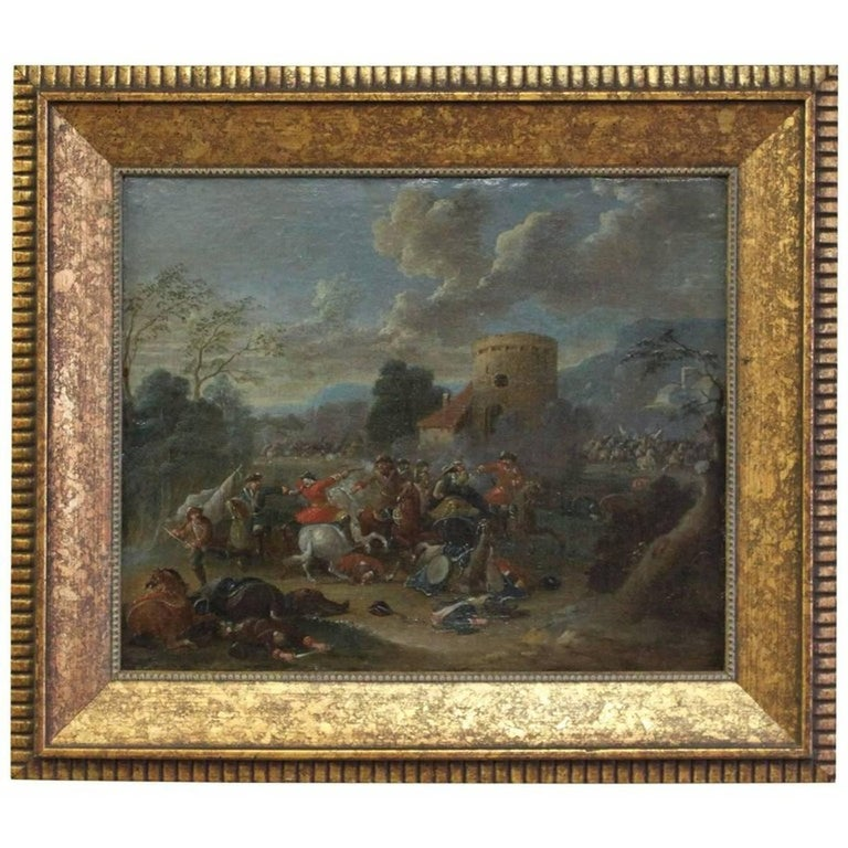 Unknown Figurative Painting - Cavalry Engagement Attributed to Karel Breydel