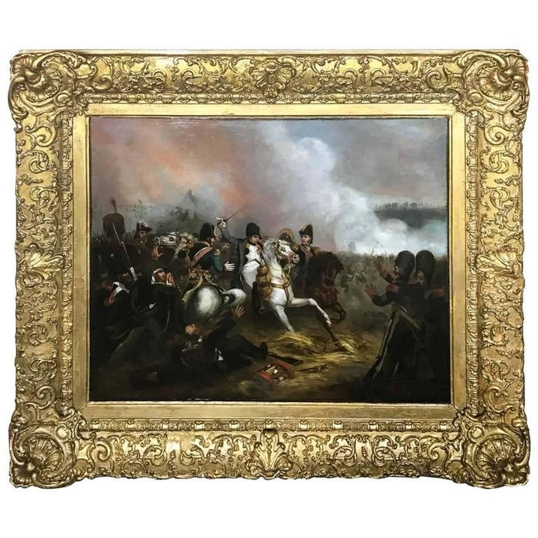 Unknown Figurative Painting - Napoleon at Battle Attributed to Jean-Louis-Ernest Meissonier