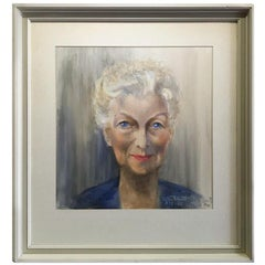 Watercolor Portrait of a Woman, Signed