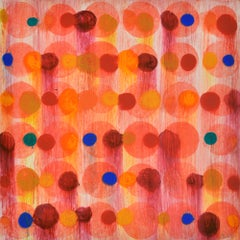 """""""Dot Variant 1"""", color dots, abstract, orange, pink, blue, teal, yellow, red"""