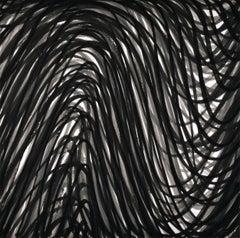 Wavy Brushstrokes #2 (Black)