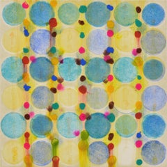 """""""Dot Variant 5"""", color dots, abstract, teal, yellow, pink, yellow, green, blue"""
