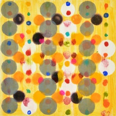 """""""Dot Variant 9"""", color dots, abstract, orange, yellow, pink, green, blue, red"""