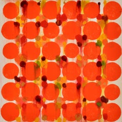 """""""Dot Variant 14"""", color dots, abstract, pattern, orange, yellow, warm"""