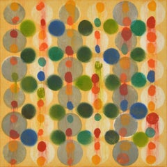 """""""Dot Variant 15"""", color dots, abstract, yellow, green, blue, teal, red, orange"""