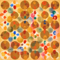 """""""Dot Variant 22"""", color dots, abstract pattern, yellow, red, blue, green, orange"""