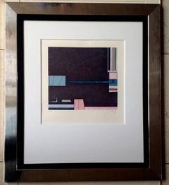 "Gunther Gerszo, ""Del árbol florido 4, lithograph 94/100, 1980."