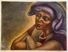 Raul Anguiano, Enamorada (A.P VI/XXV), lithograph, 1986.