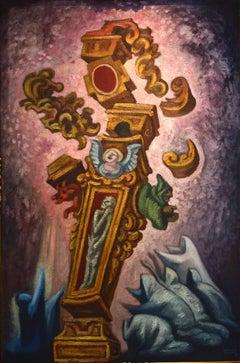 Jose Chavez Morado, Destrucción de mitos, oil paint. This paint is cataloged.