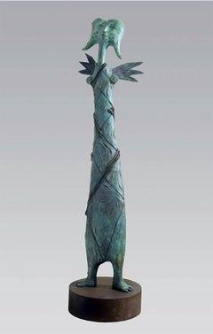 Lino Chavez, Nike, brass sculpture, PA.
