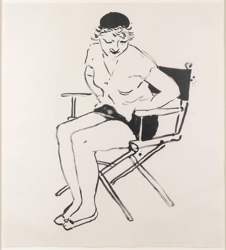 David Hockney Portrait Print - Celia in the Director's Chair