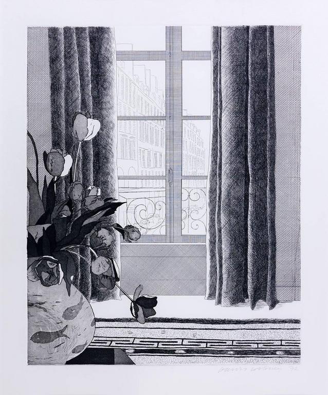 David Hockney Interior Print - Rue de Seine
