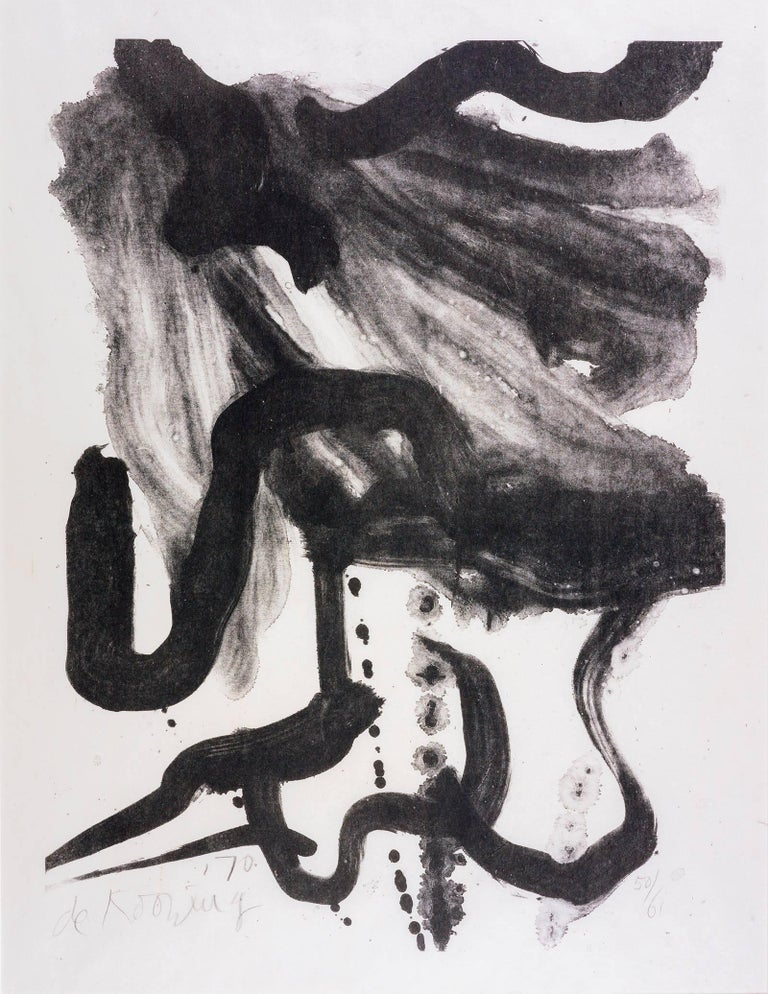 Willem de Kooning Abstract Print - Woman with Corset and Long Hair