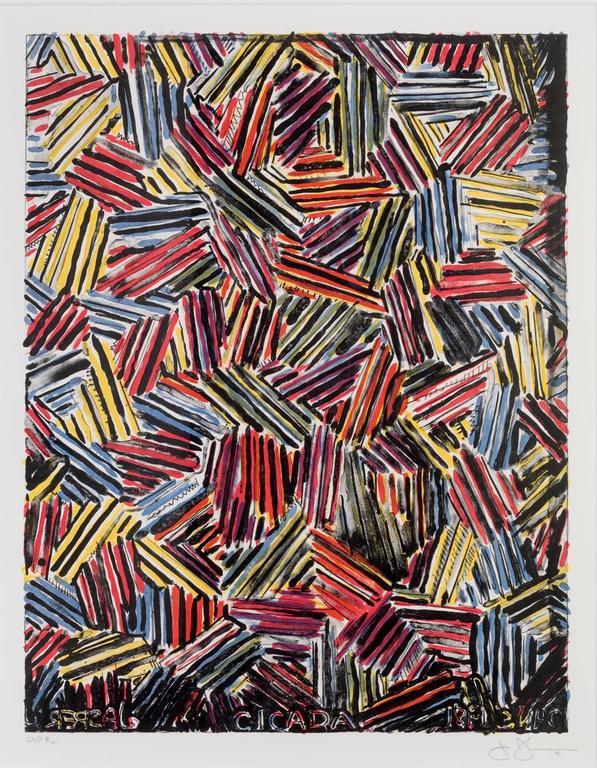 Jasper Johns Abstract Print - Cicada