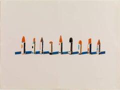 Wayne Thiebaud - Lipstick Row