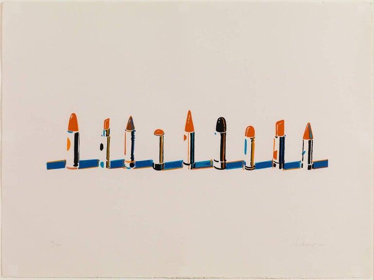 Wayne Thiebaud - Lipstick Row 1