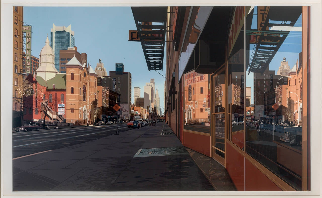 Richard Estes Landscape Print - Holland Hotel