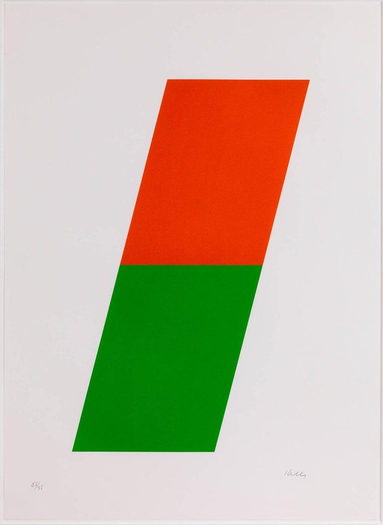 Ellsworth Kelly Abstract Print - Orange/Green