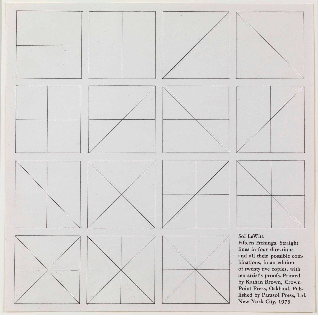 Straight Lines in Four Directions & All Their Possible Combinations