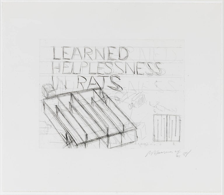 Bruce Nauman Print - Learned Helplessness in Rats