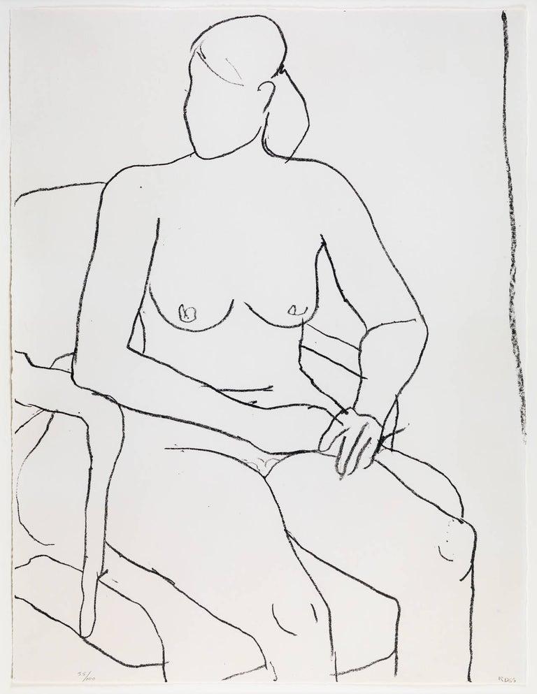 Seated Nude - Print by Richard Diebenkorn