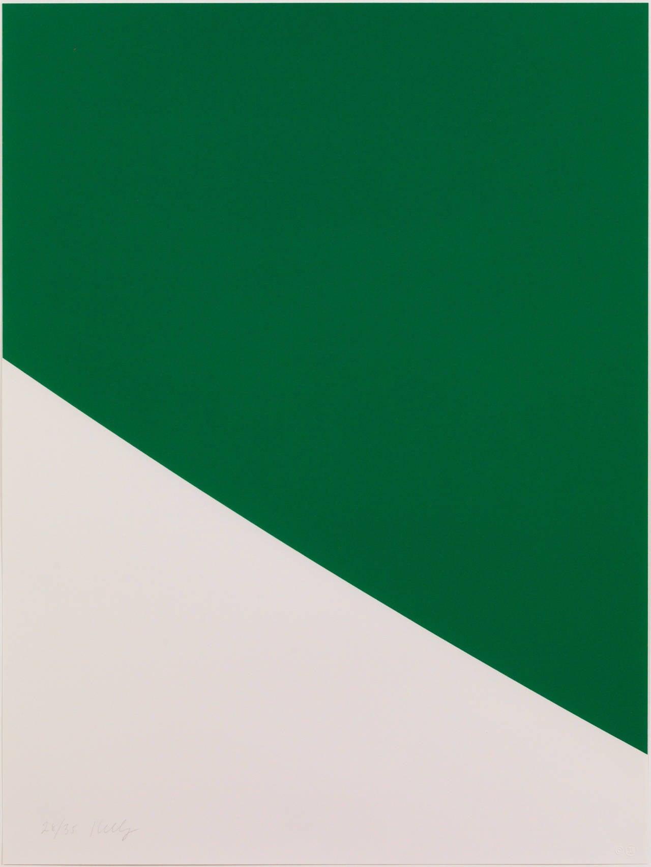Green Curve - Print by Ellsworth Kelly