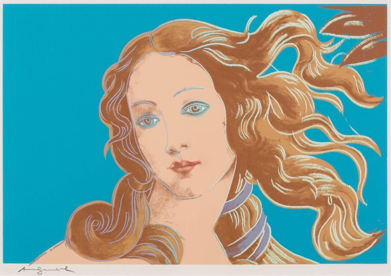 Details of Renaissance paintings (Sandro Botticelli, Birth of Venus, 1482) - Print by Andy Warhol