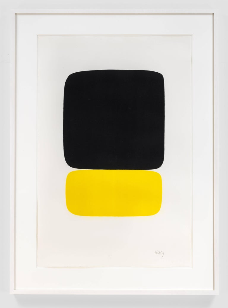 Ellsworth Kelly - Black over Yellow, Print For Sale at 1stdibs