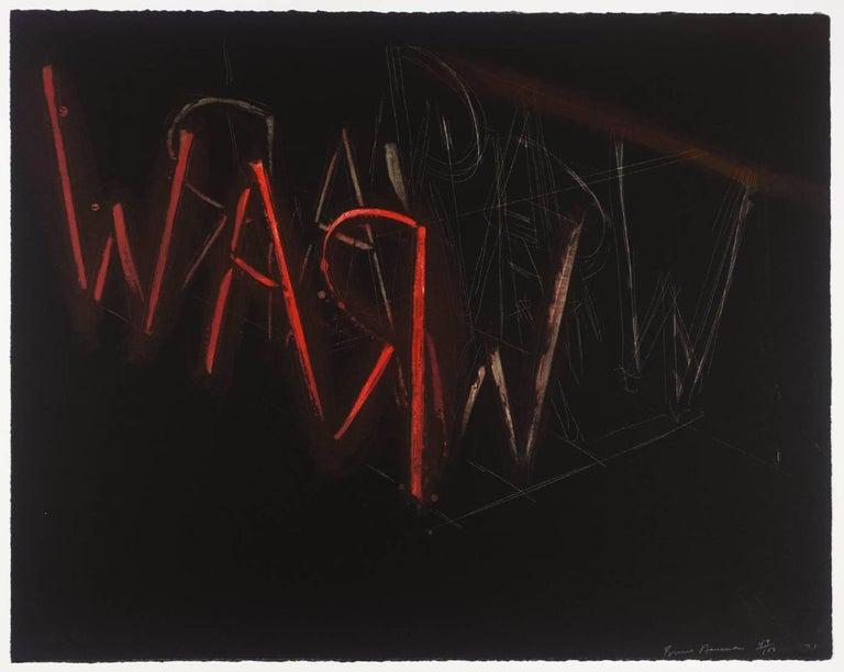 Bruce Nauman Abstract Print - Raw War