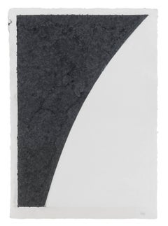 Colored Paper Image I (White Curve with Black I)