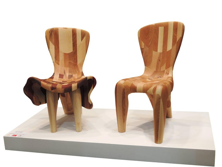 Beatriz Gerenstein Abstract Sculpture - The Chairs in Love. Chairs Sculpture shown in 15Venice Architecture Biennale