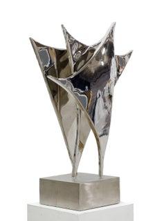 The Spark, Stainless steel sculpture by Beatriz Gerenstein