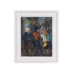 Oil on Board by Yram Allets (1915-2009)