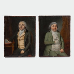 Two Mid 18th Century Oil on Canvas Portraits of Gentlemen