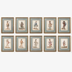 Set of 10 18th Century German Watercolours
