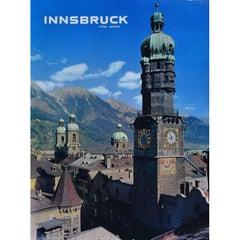 Innsbruck: Tyrol, Austria Original Vintage Travel Poster - Skiing resort