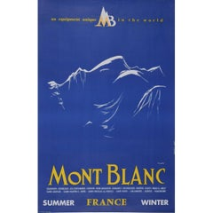 Yves Laty Mont Blanc Original Vintage Skiing Travel Poster Chamonix Combloux
