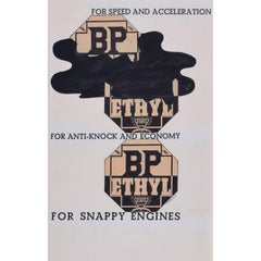 McKnight Kauffer design for poster for 'BP Ethyl for Snappy Engines' (1934)