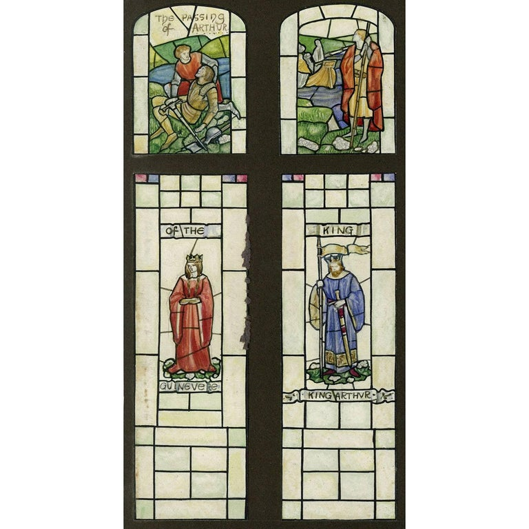 The Passing Of King Arthur King Arthur Guinevere Stained Glass Window Design