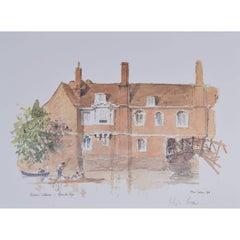 Queens' College Cambridge Hugh Casson limited edition print