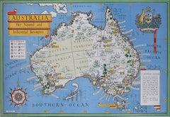 Australia Original Vintage Propaganda Poster post WW2 MacDonald Max Gill