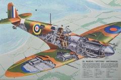 Britian's New Spitfire Rare 1940 Original Vintage Poster Battle of Britain WW2