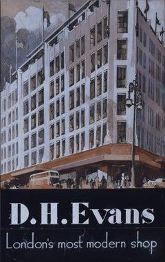 DH Evans: London's Most Modern Shop c. 1920s original advertising design