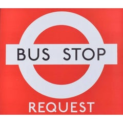 London Transport Bus Stop Original Vintage Poster c. 1970