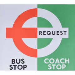 London Transport Coach Stop/Bus Stop Poster